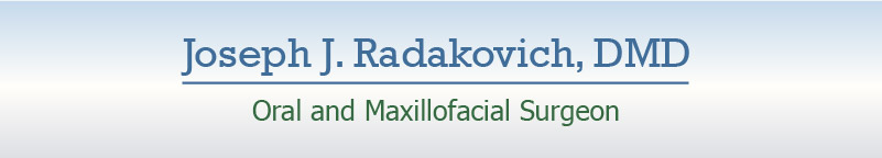 Joe Radakovich Oral Maxillofacial Surgeon mobile footer name ban